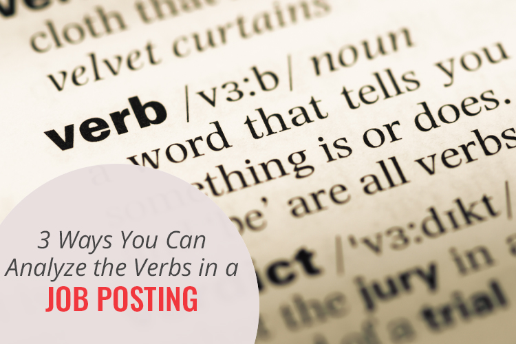Analyze Verbs in a Job Posting