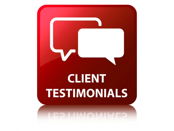 Client Testimonials Icon with Chat Bubbles