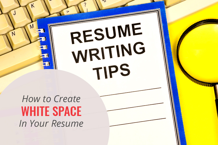 white space in your resume