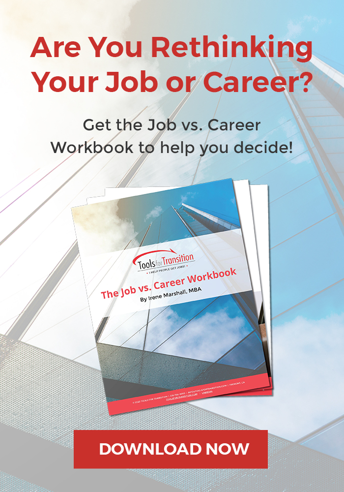 Are You Rethinking Your Job or Career Workbook Banner with Download Now Button